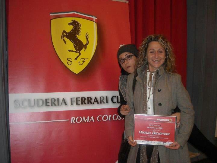Daniela Bellofiore al concorso internazionale d'arte Passionauta Rosso Ferrari per l'Arte